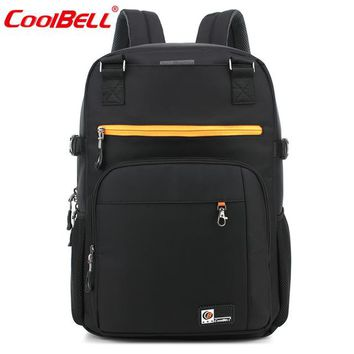 Cool Backpack school CoolBell 17.6 inch Men women Laptop Backpack Computer Travel Backpack with luggage belt Waterproof Large Notebook Bag AT_52_3