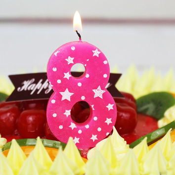 Boys&Girls Birthday Cake Numbers Decoration Candles Party Anniversary Candles