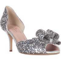 kate spade new york Sela Bow D'Orsay Dress Sandals, Silver, 5 US