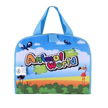 Cartoon animal Baby Water Doodle Drawing Play mat Foldable Portable Canvas Magic Water Doodle Mat water doodle bag drawing Bag