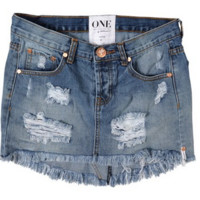 One Teaspoon 'Ford Junkyard' Denim Skirt | Shop Splash