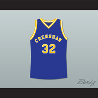 Monica Wright 32 Crenshaw High School Blue Basketball Jersey Love and Basketball