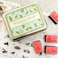 Bird Rubber Foam Stamps Set 9 Designs KS1