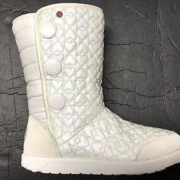 Brand New UGG Australia Girl's I Heart Puffy Quilted Wool Lining Tall Boot US 4