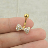 bellybutton rings little bow belly button ring bow,girlfriend gift