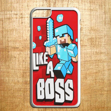Cute Minecraft Like a Boss for iphone 4/4s/5/5s/5c/6/6+, Samsung S3/S4/S5/S6, iPad 2/3/4/Air/Mini, iPod 4/5, Samsung Note 3/4, HTC One, Nexus Case*PS*
