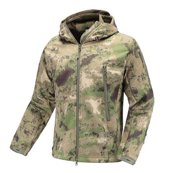Army Camouflage Jacket men&women Military Tactical Jacket  Waterproof Soft Shell  Windbreaker  Hooded Camo Hunt Clothes