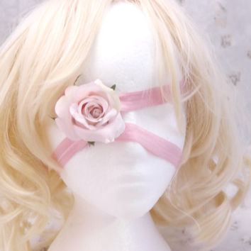 Broken Doll Pink Rose Eye Patch and Headband