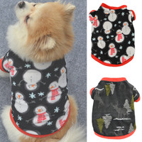1Pcs Pet dog winter clothes New Year warm clothes Dog Clothes Fleece Soft T-shirt Pet Sweater Clothing Costumes