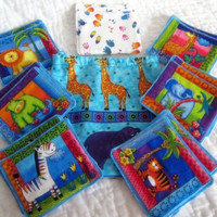 Jungle Memory Matching Game Fabric - Educational for Children