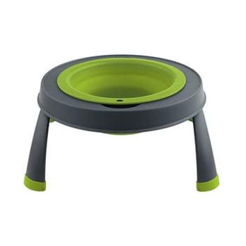 Popware Single Elevated Dog Bowl - Green