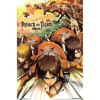 "Attack on Titan Poster 22""X34""-"