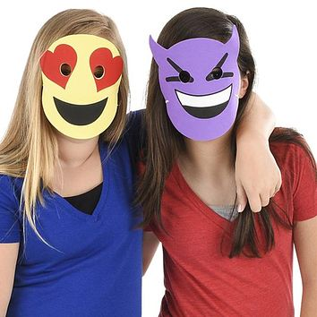 Foam Emoticon Face Masks