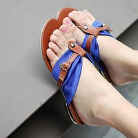 Handsome and comfortable Rome the word sandals sandals | fashion4us