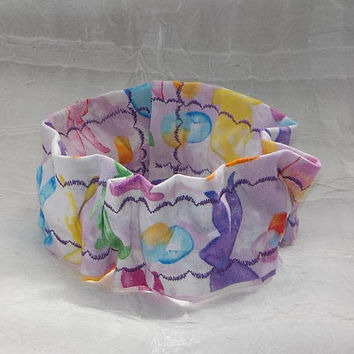 Pastel EASTER Bunny (Scrunchie) Dog/Cat Collar Cover Small, Medium and Large