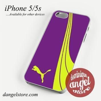 fancy purple yellow puma phone case for iphone 4 4s 5 5c 5s 6 6 plus  number 1