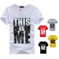 Mens t shirts fashion hip hop t-shirt fitness t-shirt men tops tees swag clothes men t-shirt