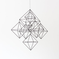 Large Himmeli No.2 / Rigid Straw / Modern Hanging Mobile / Geometric Sculpture / Minimalist Home Decor