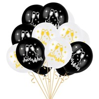 Wedding Party Balloons 10pcs Cheers Bitches Latex Wedding Engagement Valentine's Day Bachelorette Party Decoration Balloons