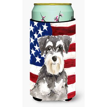 Patriotic USA Schnauzer #2 Tall Boy Beverage Insulator Hugger CK1722TBC