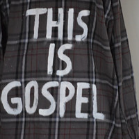 "Vintage Panic! ""This Is Gospel"" Flannel"