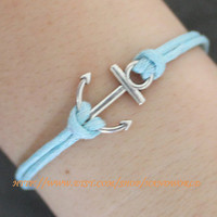 silve anchor bracelet by handworld