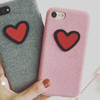 Heart-shaped Lover Case for iPhone 7 7Plus & iPhone se 5s 6 6 Plus Best Protection Cover +Free Gift Box A78