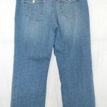 Levi's Jeans Size 12 PT Short 512 Perfectly Slimming Boot Cut Stretch