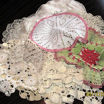 49 Small Crocheted Doilies Destash by bpsbagsntotes on Etsy