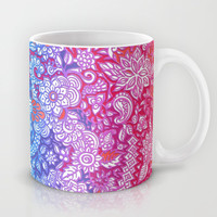 Fantasy Garden Rainbow Doodle Mug by micklyn