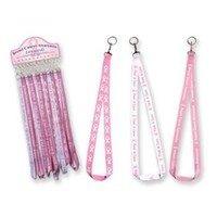 BREAST CANCER AWARENESS LANYARD KEYCHAIN