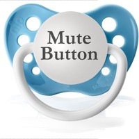 Mute Button Pacifier (Baby Blue):Amazon:Baby