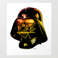 STAR WARS Darth Vader Art Print by Tom Brodie-Browne