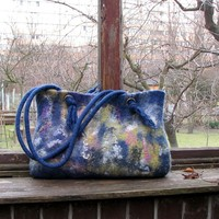 $128.00 Felted handbag felt bag hand felted bag felted shoulder bag felt handbag hand felted bag unique bag - Bestie.com