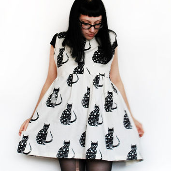 Starry Cat Dress - One Size