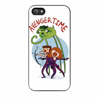 Avenger Time With Black Widow Hawkeye And Hulk iPhone 5s Case