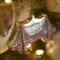 Golden Gate Bridge Glass Ornament | Pottery Barn