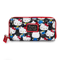 Hello Kitty Black Vintage Print Embossed Wallet