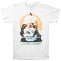 Star Wars Men's  Triangula T-shirt White Rockabilia