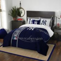 Yankees Full Embroidered Comforter & 2 Sham Set