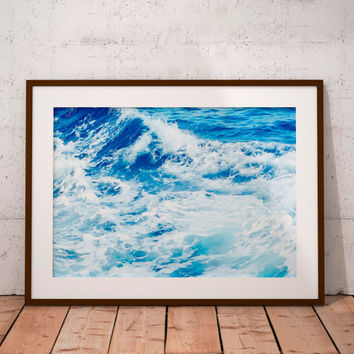 ocean art print, ocean photography, ocean art, instant download, ocean waves print, ocean poster, ocean printable, ocean print, sea poster