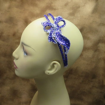 Headbands - Purple Headband - Hair Accessories - Purple And Silver Wedding - Purple Wedding
