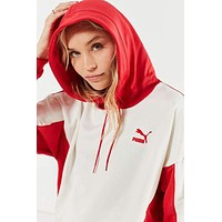 Puma Oversized Color Block Hoodie Sweatshirt