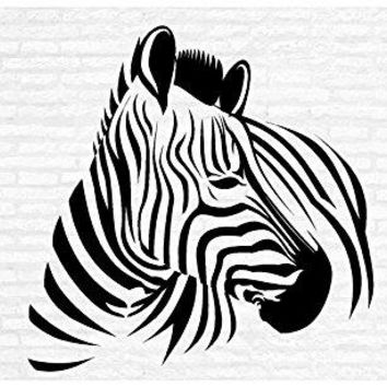 Zebra Safari Zoo Man Cave Animal Rustic Cabin Lodge Mountains Hunting Vinyl Wall Art Sticker Decal Graphic Home Decor