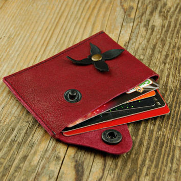 Wallet leather wallet woman slim wallet minimal  wallet  genuine leather wallet credit card wallet card holder travel wallet