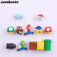 Super Mario party nes switch Creative PVC powerful fridge magnets   Creative cartoon garden  decoration fridge magnets AT_80_8
