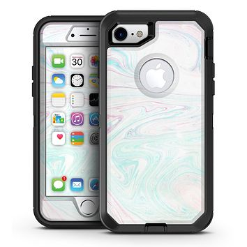 Light Mixtured Textured Marble - iPhone 7 or 7 Plus OtterBox Defender Case Skin Decal Kit