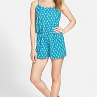 Junior Women's BP. Print Cotton Romper