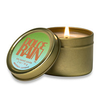 Dolce Rain Set/2 Scented Soy Travel Candles - rain water, bamboo, moss, lily