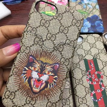 iPhone6/7/8 Plus Bankertedb (Fast US Deliver Guarantee Fulfilled by Amazon) GU Fashion Graphic Card Slot Style PU Leather Case Cover for Apple iPhone 6 Plus iPhone 7 Plus iPhone 8 Plus (Love Tiger)